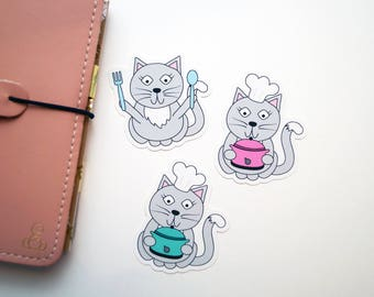 Hungry Kitty Die Cut Stickers
