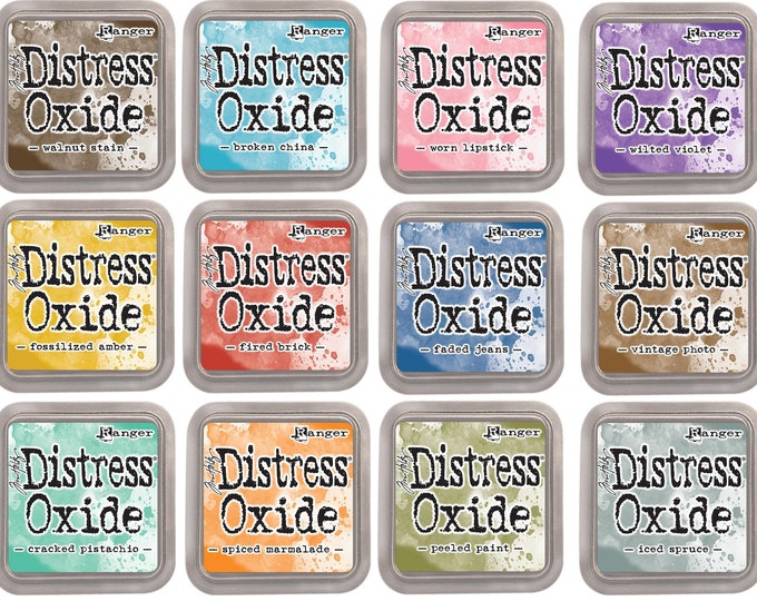 Featured listing image: Tim Holtz Distress Oxide Ink pads 3x3  SET #1