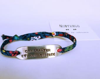 Personalized Bracelet with cord Liberty London