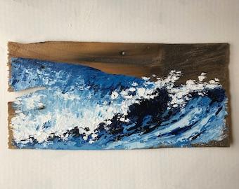 Reclaimed Cedar Shingle: Wavescape abstractions