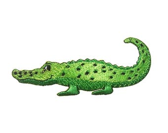 Crocodile Embroidered Applique Iron on Patch