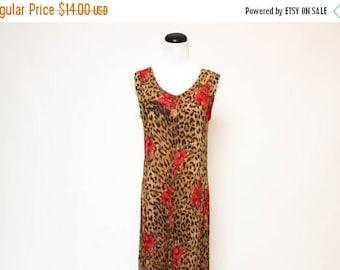25% OFF Vtg 90s Rock Grunge Cheetah Rose Floral Maxi Dress S/M/L