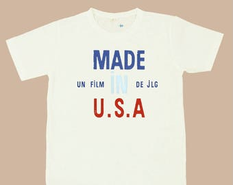 Made in U.S.A. Jean Luc GODARD T SHIRT S,M,L,XL