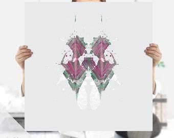 Rorschach, Ink Blot , Therapist Gift - Psychology Art | Psychiatrist Gift | Instant Download | Ink Print