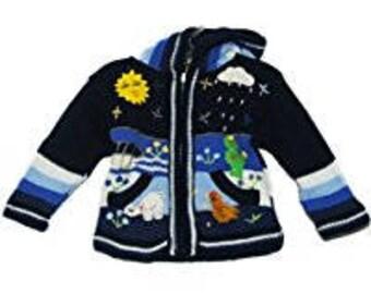 Handmade child jacket.