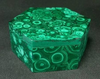 Malachite jewelry box
