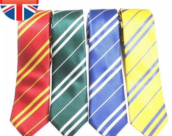 Men's, Woman's Ladies H.P Style Wizard house tie for Fancy Dress red, green,yellow and blue