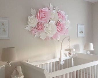 Paper Flower Backdrop - Paper Flower Wall - Paper Flowes for Nursery - Wedding Paper Flowers - Giant Paper Flower Backdrop
