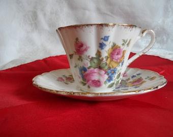 Gladstone Bone China Tea Cup and Saucer