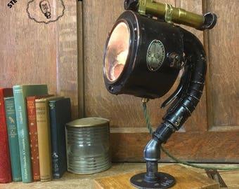 Upcycled 1940s aldis signal lamp