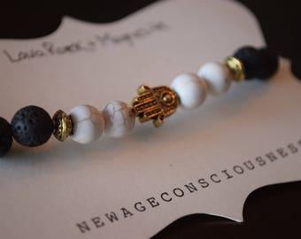 Lava Rock & Magnesite Diffuser Bracelet