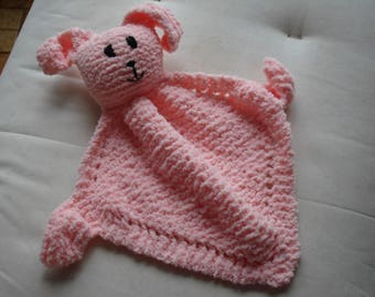 Cuddle Bunny knitted in Chenille Yarn