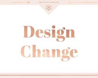 Design change for ONE item