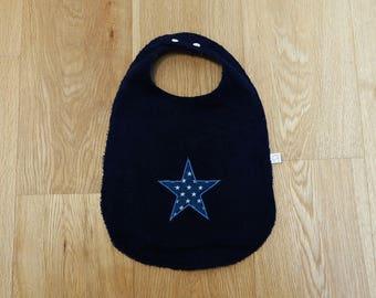 Large bib - Blue Star