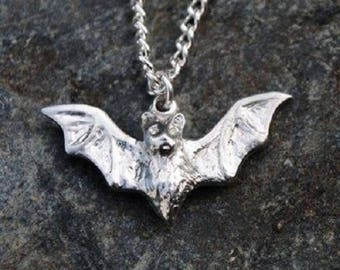 Bat Pewter Pendant