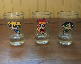 Power Puff Girls Shot Glasses