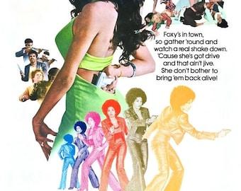 Summer Sale Foxy Brown Movie POSTER (1974) Crime/Blaxploitation