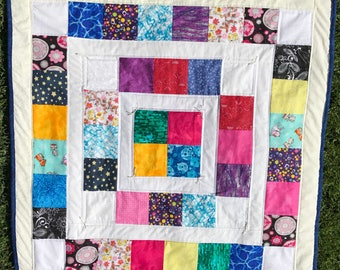 Colorful Sparkly Baby Quilt