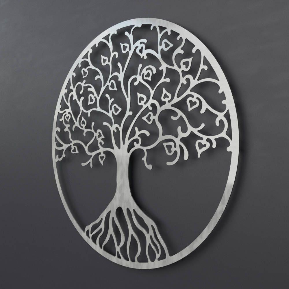 Tree Of Life Metal Wall Art Metal Tree Wall Art Circle Wall