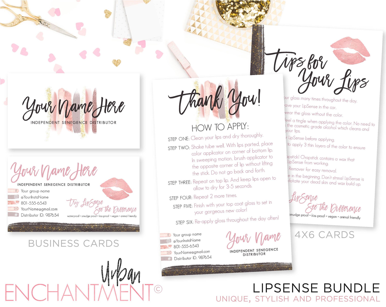 lipsense business cards lipsense business card bundle