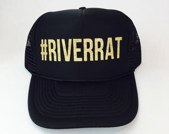 Riverrat Hat, River rat, River Rat Hat, River Rat Trucker Hat, #Riverrat, River Trucker Hat, Cute Hat, River, Hats, Caps, Trucker Hat