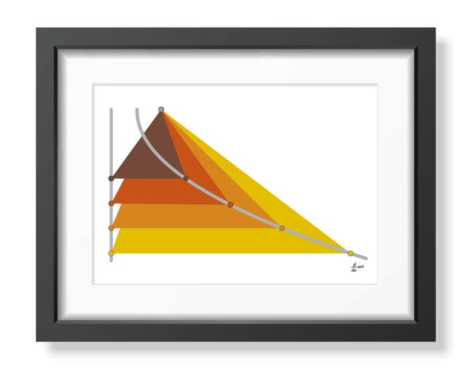 Parabola 07 [mathematical abstract art print, unframed] A4/A3 sizes