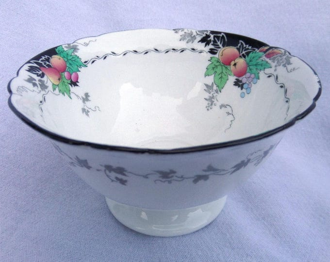 Shelley Bowl, Slops Bowl, 1926 Hand Painted Porcelain Stemmed Bowl, Gainsborough Shape, Pattern No 11472, Excellent Condition