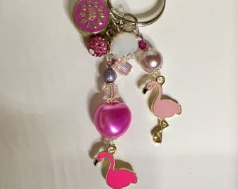 Flamingo Bag Charm / Keyring