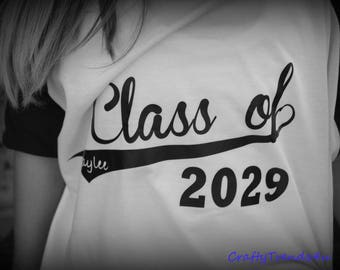 Class of 2030 Keepsake Kindergarten Back to School Shirt