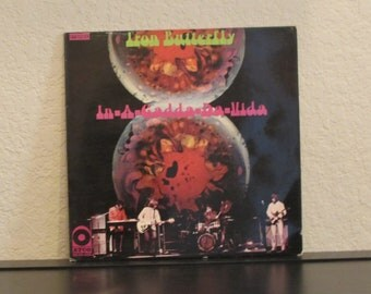 Hard To Find German Pressing!!!  Iron Butterfly - In-A-Gadda-Da-Vida - 33 1/3 Vinyl Record