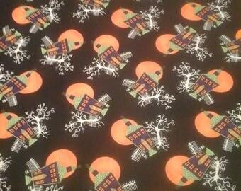 Moda Halloween Fabric  1 yard Cotton