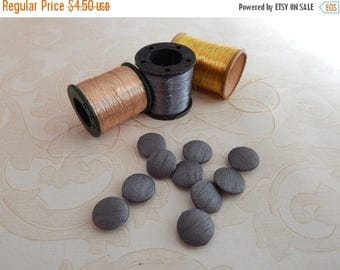 5% off Set of 10 Fabric Buttons, 18mm buttons, Dupioni Silk Buttons, Decorative Buttons, Fabric Covered Buttons