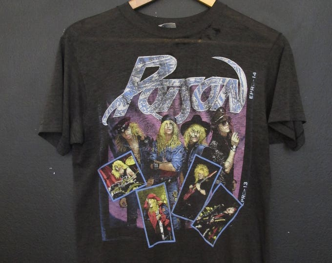 Poison Open Up and Say Ahhh Tour 1980's vintage Tshirt
