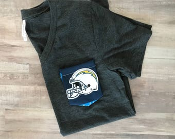 Pocket Tshirt with NFL Pocket, San Diego Chargers