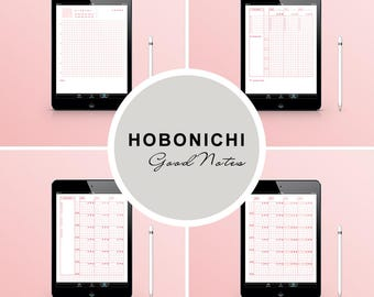GoodNotes Hobonichi / iPad GoodNotes / GoodNotes Template / Digital Planner Pages / Hobonichi Notebook / Japanese Notebook / PINK