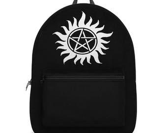 Supernatural Anti Possession Sigil Backpack, Black & White Versions Available