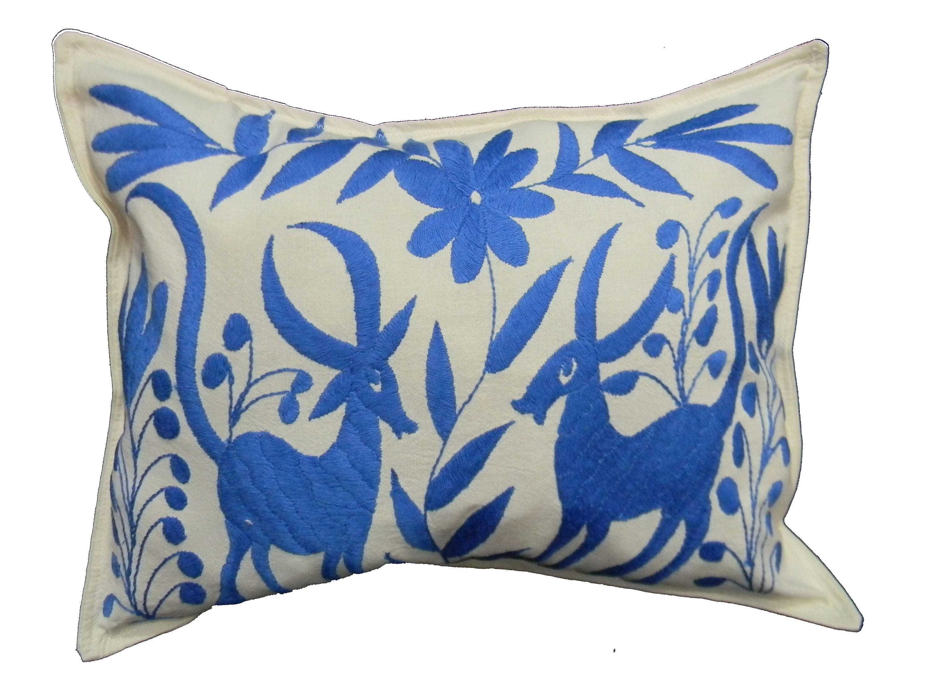 Otomi pillow cover Mexican embroidered cushion case