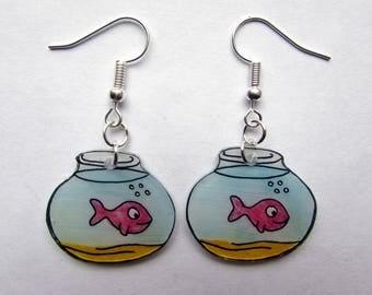 """Earrings """"p"""" little fish """""""