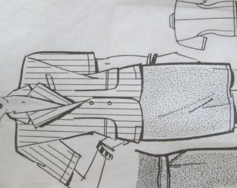 Fashions and needlework pattern for jacket and skirt two planks pattern
