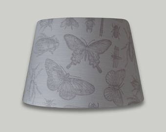 Cream Beige Butterfly Dragonfly Bugs Lamp Shade Empire Tapered Cone Lampshade Lightshade 25cm 30cm 35cm 40cm 50cm 60cm 70cm