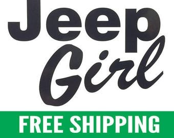 "Jeep Girl | 5"" Vinyl Stickers, Pair"