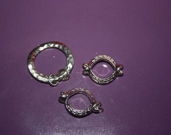 SET OF 3 RINGS FOR MAKING CHARMS