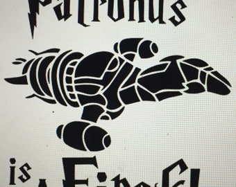 my patronus is a firefly harry potter serenity firefly vinyl decal