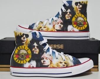 Guns n Roses custom converse / custom shoes