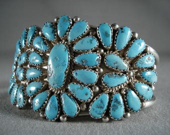 Museum 'Natural Turquoise Collection' Silver Bracelet Old