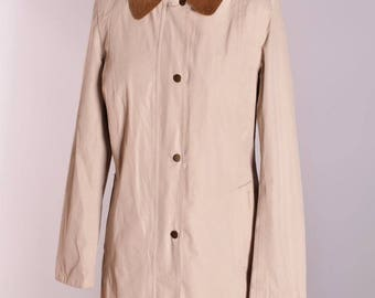 Women's Barbour Cotton Touch Hampshire Trench Coat Jacket Size 12 Genuine