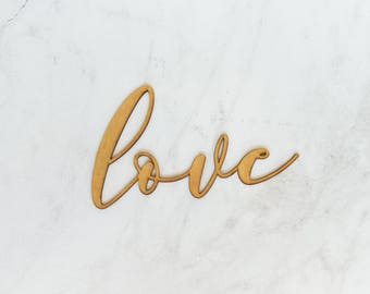 Love | Laser Cut Wooden Word