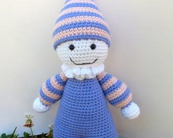 READY TO SHIP-- Clarabel the Clown Amigurumi Crochet Toy