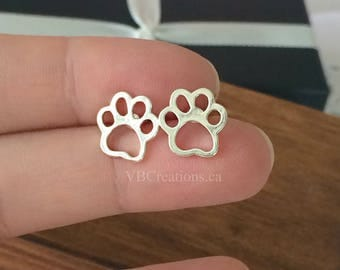 Dog Paws Earrings - Paw - Dog Earrings - Dog Jewelry - Paws Jewelry - Animal Earrings - Silver - Animal Jewelry - Sister Gift - Mother Gift