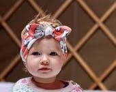 Knotted Headband, Baby Headband, Baby Shower Gift, Baby Head Wrap, French Bulldog, Cute Baby Gift, Top Knot Headband, Baby Girl Gift